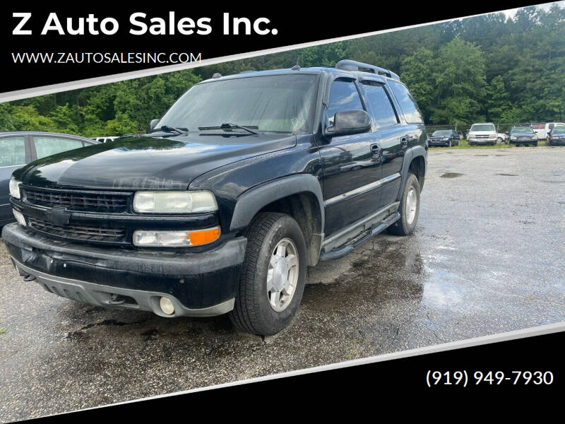 2005 Chevrolet Tahoe for sale at Z Auto Sales Inc. in Rocky Mount NC