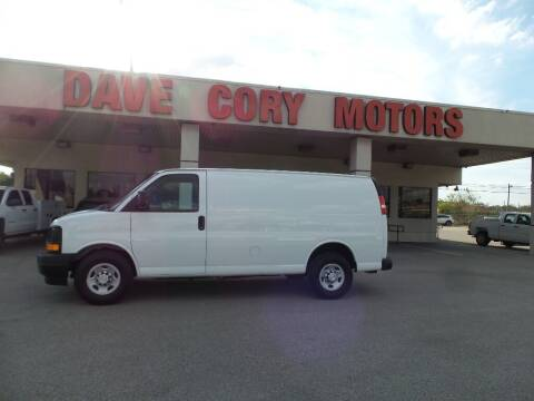 2017 Chevrolet Express Cargo for sale at DAVE CORY MOTORS in Houston TX