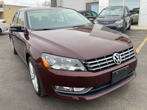 2013 Volkswagen Passat for sale at RABIDEAU'S AUTO MART in Green Bay WI