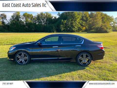 2016 Honda Accord for sale at East Coast Auto Sales llc in Virginia Beach VA
