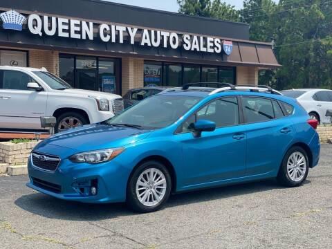 2017 Subaru Impreza for sale at Queen City Auto Sales in Charlotte NC