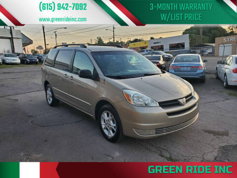 2004 Toyota Sienna for sale at Green Ride Inc in Nashville TN