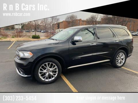 2014 Dodge Durango for sale at R n B Cars Inc. in Denver CO