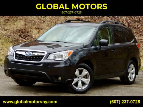 2014 Subaru Forester for sale at GLOBAL MOTORS in Binghamton NY