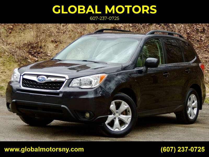 2014 Subaru Forester for sale at GLOBAL MOTORS in Binghamton NY
