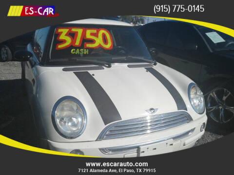2004 MINI Cooper for sale at Escar Auto in El Paso TX