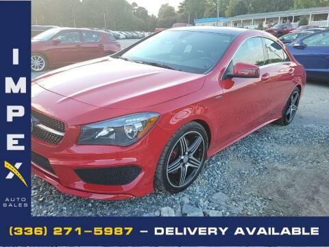2016 Mercedes-Benz CLA for sale at Impex Auto Sales in Greensboro NC