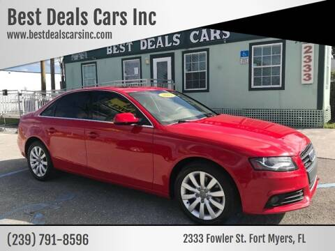 2012 Audi A4 for sale at Best Deals Cars Inc in Fort Myers FL