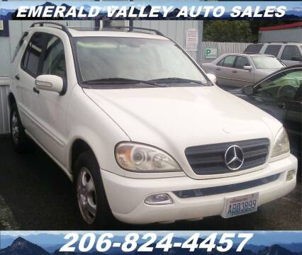 2003 Mercedes-Benz M-Class for sale at Emerald Valley Auto Sales in Des Moines WA