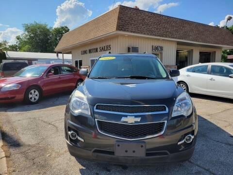 2012 Chevrolet Equinox for sale at Long Motor Sales in Tecumseh MI