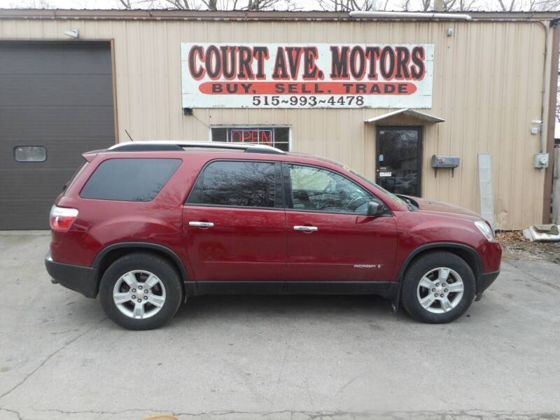 2007 GMC Acadia for sale at Court Avenue Motors in Adel IA