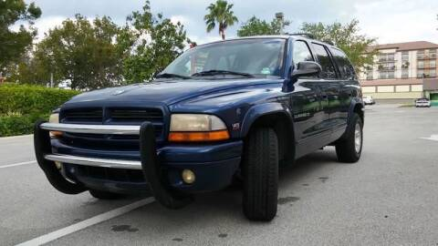2000 Dodge Durango for sale at AUTO BENZ USA in Fort Lauderdale FL