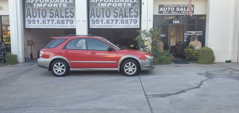 2006 Subaru Impreza for sale at Affordable Imports Auto Sales in Murrieta CA