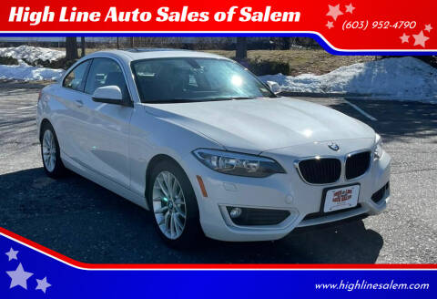 2015 BMW 2 Series for sale at High Line Auto Sales of Salem in Salem NH
