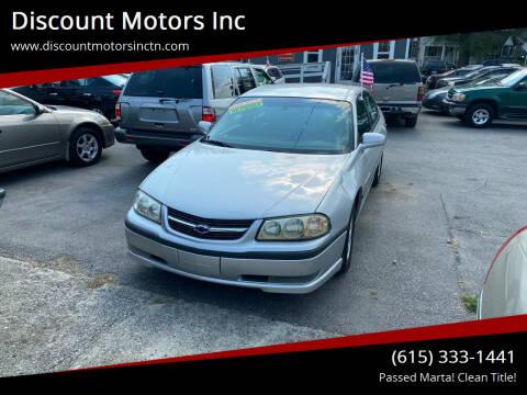 2003 Chevrolet Impala for sale at Discount Motors Inc in Nashville TN