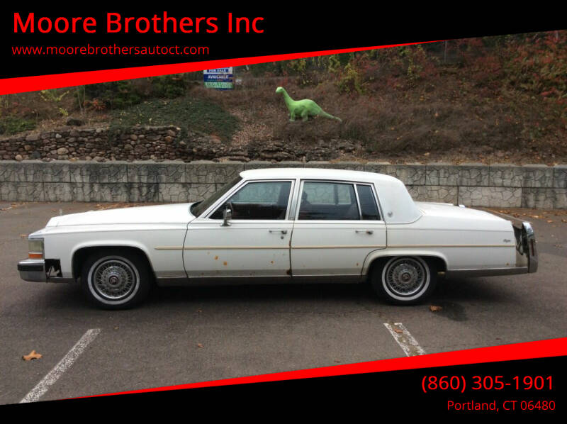1987 Cadillac Brougham for sale at Moore Brothers Inc in Portland CT