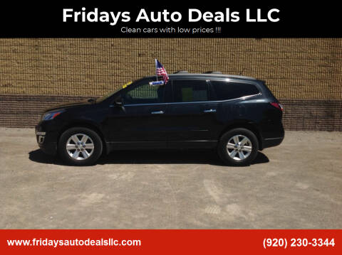 2013 Chevrolet Traverse for sale at Fridays Auto Deals LLC in Oshkosh WI