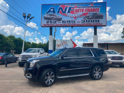 2015 GMC Yukon for sale at ANF AUTO FINANCE in Houston TX