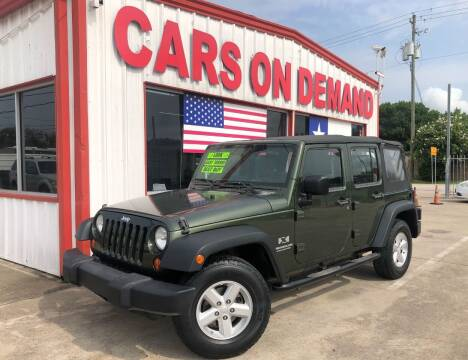 2008 Jeep Wrangler Unlimited for sale at Cars On Demand 2 in Pasadena TX