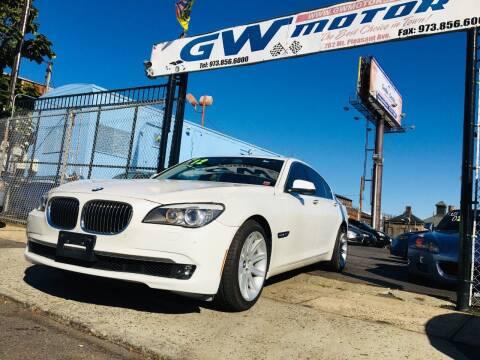 2012 BMW 7 Series for sale at GW MOTORS in Newark NJ
