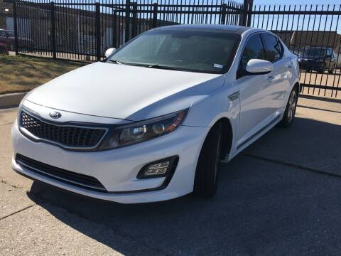 2014 Kia Optima Hybrid for sale at TETCO AUTO SALES  / TETCO FUNDING in Dallas TX
