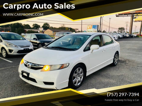 2010 Honda Civic for sale at Carpro Auto Sales in Chesapeake VA