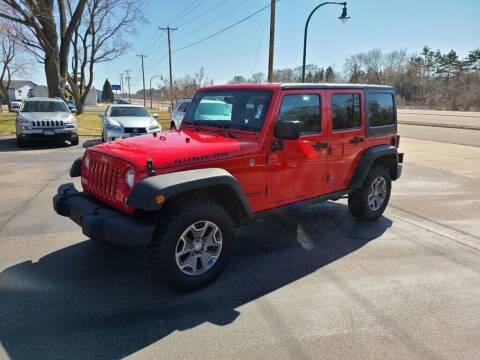 2017 Jeep Wrangler Unlimited for sale at Premier Motors LLC in Crystal MN