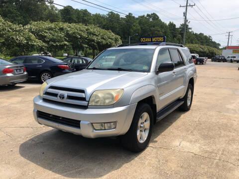 2004 Toyota 4Runner for sale at Oceana Motors in Virginia Beach VA