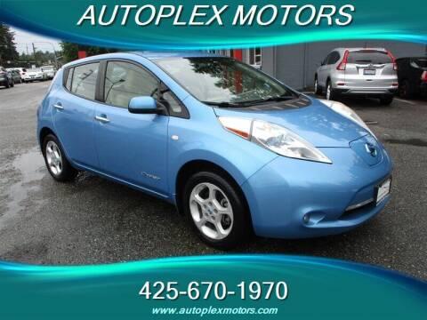 2012 Nissan LEAF for sale at Autoplex Motors in Lynnwood WA