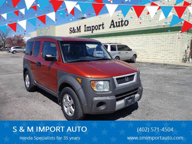 2003 Honda Element for sale at S & M IMPORT AUTO in Omaha NE
