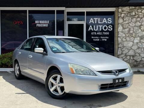 2003 Honda Accord for sale at ATLAS AUTOS in Marietta GA