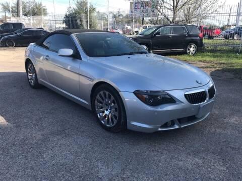 2005 BMW 6 Series for sale at Texas Luxury Auto in Houston TX