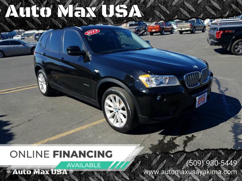 2013 BMW X3 for sale at Auto Max USA in Yakima WA