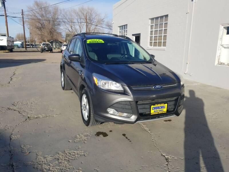 2015 Ford Escape for sale at CHURCHILL AUTO SALES in Fallon NV