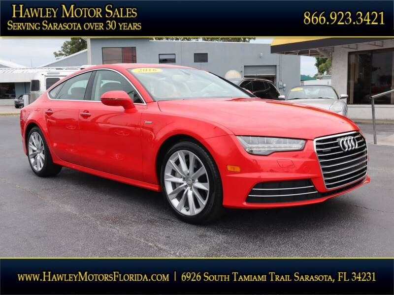 2016 Audi A7 for sale at Hawley Motor Sales in Sarasota FL