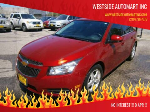 2014 Chevrolet Cruze for sale at WESTSIDE AUTOMART INC in Cleveland OH