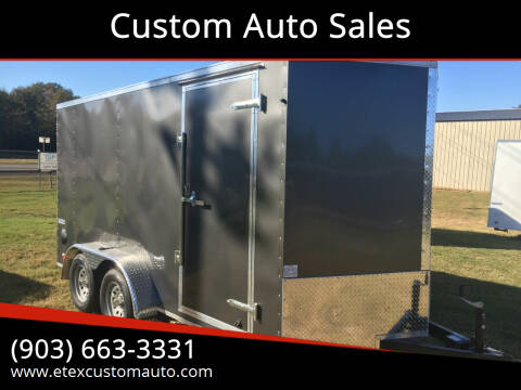 2021 Continental Cargo 7x14 Tandem Axle for sale at Custom Auto Sales - TRAILERS in Longview TX