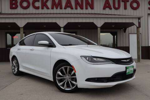 2015 Chrysler 200 for sale at Bockmann Auto Sales in St. Paul NE