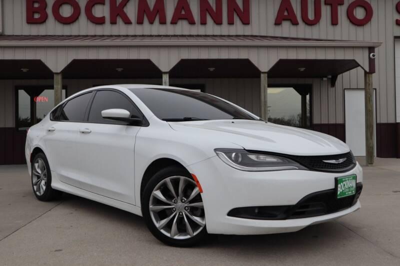 2015 Chrysler 200 for sale at Bockmann Auto Sales in St. Paul NE