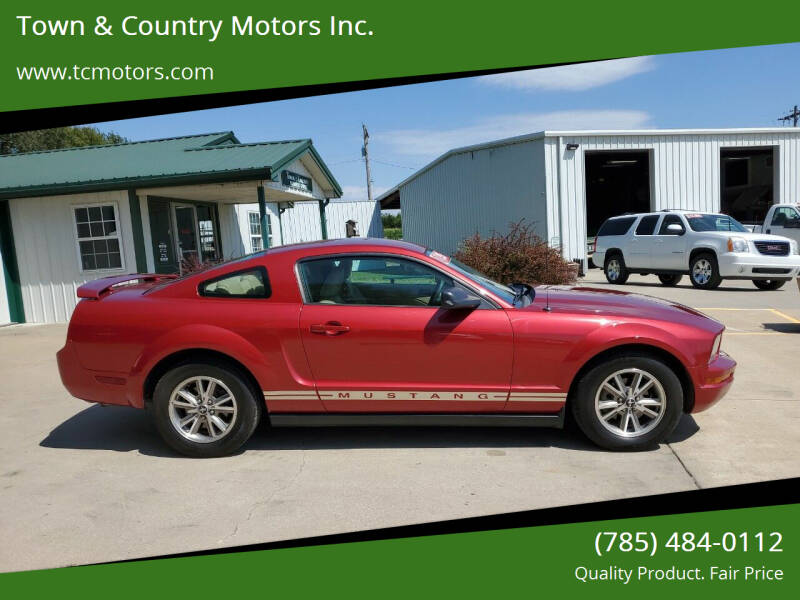 2005 Ford Mustang for sale at Town & Country Motors Inc. in Meriden KS