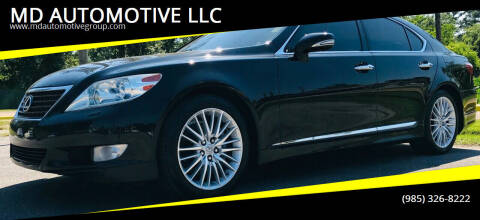 2012 Lexus LS 460 for sale at MD AUTOMOTIVE LLC in Slidell LA