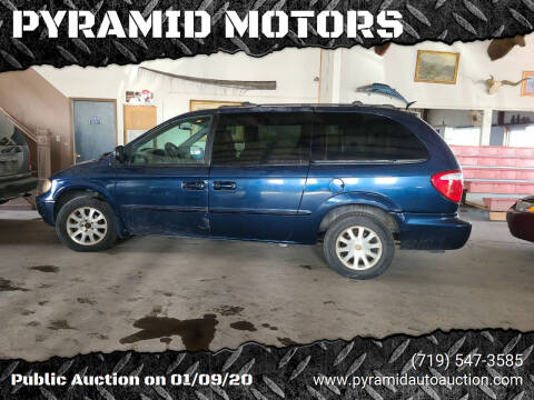 2002 Chrysler Town and Country for sale at PYRAMID MOTORS - Pueblo Lot in Pueblo CO