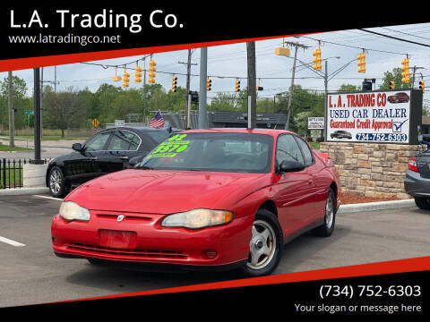 2002 Chevrolet Monte Carlo for sale at L.A. Trading Co. in Woodhaven MI