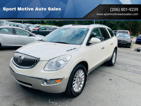 2010 Buick Enclave for sale at Sport Motive Auto Sales in Seattle WA