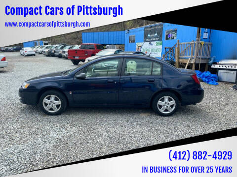 2007 Saturn Ion for sale at Compact Cars of Pittsburgh in Pittsburgh PA