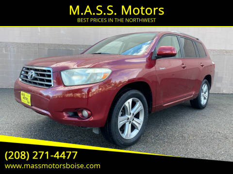 2008 Toyota Highlander for sale at M.A.S.S. Motors in Boise ID