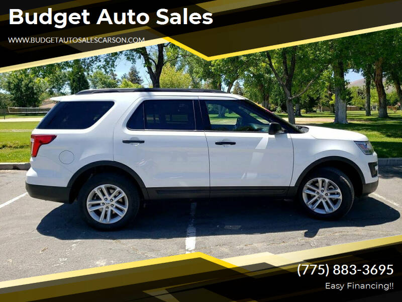 2016 Ford Explorer for sale at Budget Auto Sales in Carson City NV