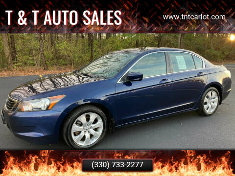 2008 Honda Accord for sale at T & T Auto Sales in Akron OH