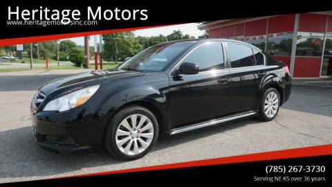 2011 Subaru Legacy for sale at Heritage Motors in Topeka KS