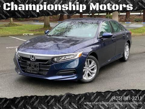 2018 Honda Accord for sale at Mudarri Motorsports - Championship Motors in Redmond WA